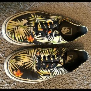 Vans palm tree flower print shoes sz 7 men